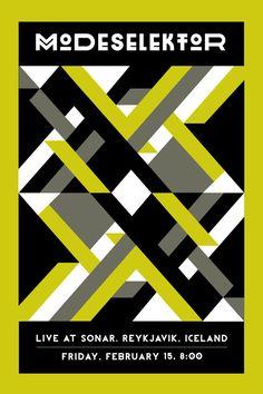 Modeselektor Concert Poster in Geometry