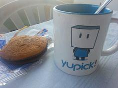 """Placeres mundanos: Desayunar en la terraza con la """"fresca"""" en mi taza de @yupick_es"""
