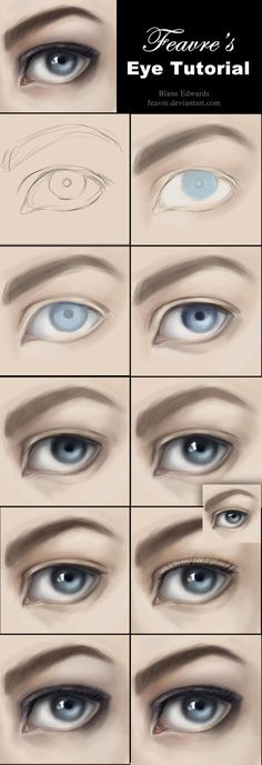 I've had a lot of requests for a tutorial/steps for how I paint. This picture wasn't done with a reference, so a referenced eye would be even more photorealistic. You may also look at other eyes on...