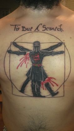 The Vitruvian Black Knight (Erik Russell of Vatican Tattoo Studio in Fort Lauderdale, FL)