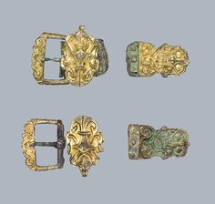 Belt buckles from the Viking period.