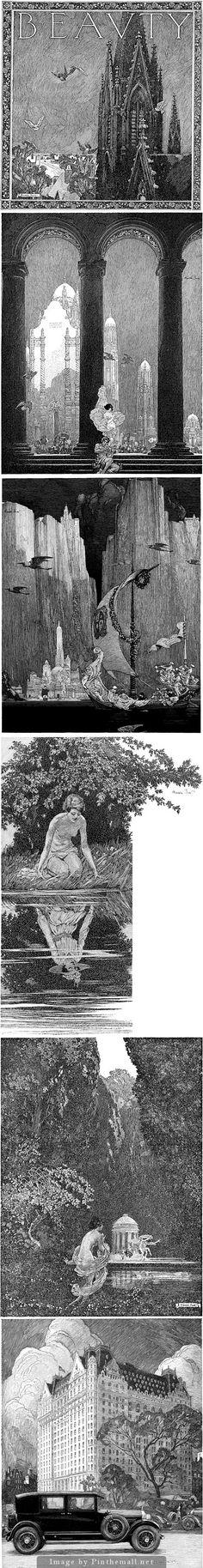 Franklin Booth  http://www.fuelyourillustration.com/5-great-draftsmen-franklin-booth/