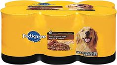PEDIGREE Meaty Ground Dinner With Chunky Beef, Bacon and Cheese Canned Dog Food 13.2 oz. (Pack of 6) >>> Click image for more details. (This is an affiliate link and I receive a commission for the sales)