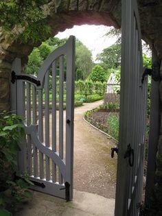 Through the kitchen garden gate