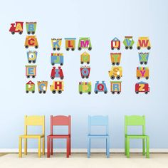 This Train Alphabet Wall Stickers Set Features Every Capital Letter On A  Train Carriage, Ideal