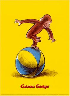 Curious George is actually not a monkey! At least not one that exists in this world! Curious George Party, Curious George Birthday, Books For First Graders, Dad Of The Year, Vintage Children's Books, Retro Vintage, Children's Book Illustration, Book Illustrations, Mellow Yellow