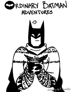 Gets cozy in his dead dad's sweater. | 24 Things Batman Does When He's Not Fighting Crime