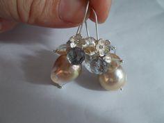 Orecchini di perle barocche d'acqua dolce di Lucedistrega su Etsy, €190.00