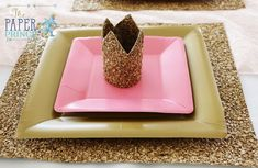 Crown place setting from a Once Upon a Time Fairytale Birthday Party on Kara's Party Ideas   KarasPartyIdeas.com (7)