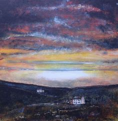 ARTFINDER: Neighbour by David Coldwell - A wonderful sunset image with a classic Pennine farmhouses in hidden valley.   Painted onto canvas board using the finest artists' acrylics and finished wi...