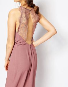 Image 3 ofSamsoe & Samsoe Willow Maxi Dress with Lace Insert