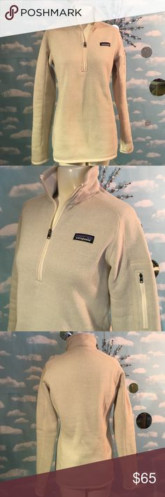 """Patagonia Better Sweater 1/4 Zip, slim fit, size medium. Color is """"Raw Linen"""". New, never worn!  🚫No Trading Please! 📑Posh Rules Only!  💰Reasonable Offers Welcome! 😘Thanks for checking out my Posh Closet! Patagonia Tops"""