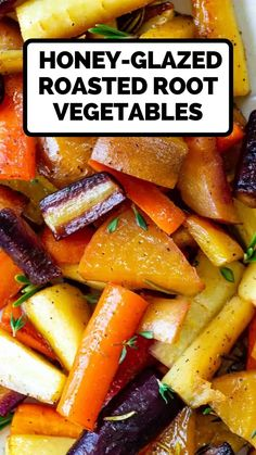 Oven Roasted Root Vegetables, Roasted Beets And Carrots, Roasted Vegetable Recipes, Healthy Vegetables, Veggie Recipes, Vegetarian Recipes, Cooking Recipes, Honey Glazed Carrots, Roasted Parsnips