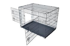 BestPet Pet Folding Dog & Cat Crate/Cage/Kennel w/ABS Tray. The BestPet® Pet Folding Dog/Cat Cage Kennel is the ultimate travel companion for any pet owner. Xxl Dog Crate, Cat Crate, Large Dog Crate, Large Dogs, Airline Pet Carrier, Dog Carrier, Dog Cages, Pet Cage, Metal Dog Cage