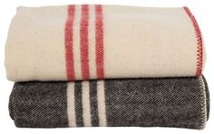 Coyuchi striped wool blankets traditional bedding