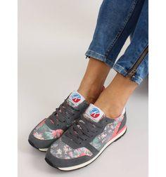 Buty sportowe w kwiaty K1540301 Negro - Sklep IMMODA.pl Sneakersy i trampki damskie Superga, Sneakers, Shoes, Fashion, Tennis, Moda, Slippers, Zapatos, Shoes Outlet