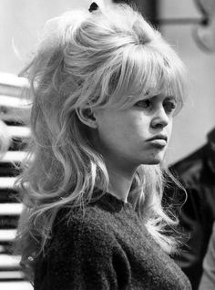 Brigitte Bardot half beehive with fringe                                                                                                                                                                                 More
