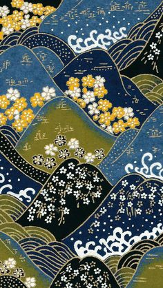 Japanese pattern 🌸 Japanese Textiles, Japanese Patterns, Japanese Prints, Japanese Paper, Japanese Fabric, Pattern Art, Pattern Design, Design Design, Dorm Art