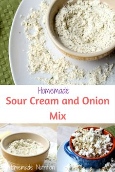 Easy gluten free sour cream and onion mix recipe! Way tastier and healthier version than store-bought! Easy gluten free sour cream and onion mix recipe! Way tastier and healthier version than store-bought! Sour Cream And Onion Powder Recipe, Make Sour Cream, Homemade Sour Cream, Real Food Recipes, Snack Recipes, Snacks, Drink Recipes, Free Recipes, Chip Seasoning