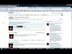Video tutorial on how to use Linkedin groups to enhance your business. Social Media Video, Video Tutorials, Business