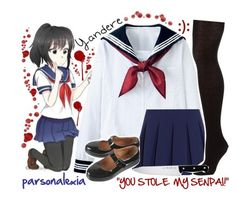 """""""Yandere Simulator"""" by parsonalexia ❤ liked on Polyvore featuring Diane Von Furstenberg, John Lewis and J.A. Henckels"""