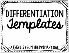 This freebie is the perfect place to start if you are wanting to expand differentiation in your classroom!