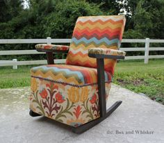 Toddler/child Upholstered Rocking Chair
