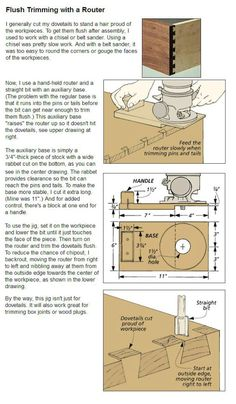 Flush Trimming with a Router.....More #Woodworking tips at ►►► http://www.woodworkerz.com