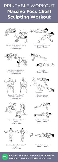 Massive Pecs Chest Sculpting Gym Workout for Guys. Grab your printable PDF FREE at http://wlabs.me/1roPD7m