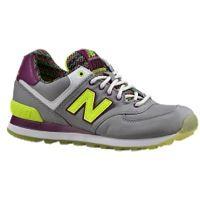 New Balance 574 - Women's - Grey / Light Green