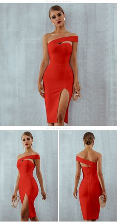This Dress looks Elegant and Beautiful One Asymmetric Shoulder Celebrity Party Bodycon Bandage Midi Party Dress Material: Spandex,Polyester Sleeve Style: One-Shoulder Decoration: Hollow Out Spaghetti Straps Long Simple Prom Dress with Split Party Dress Girls Formal Dresses, Elegant Dresses, Sexy Dresses, Beautiful Dresses, Casual Dresses, Fashion Dresses, Dresses For Work, Party Dresses, Wedding Dresses