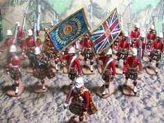 toy soldiers on parade - the 79th cameron highlanders