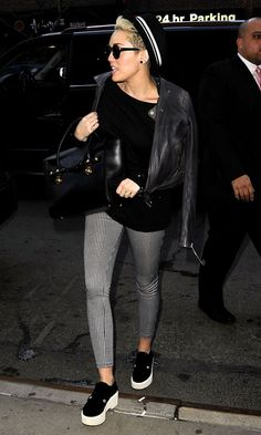 Miley Cyrus Styles Up Her Platforms In New York, 2013