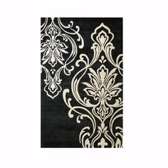 Home Decorators Collection Romantica Black 5 ft. 3 in. x 8 ft. 3 in. Area Rug-0112520210 at The Home Depot