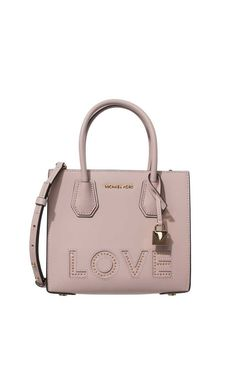 Väska Mercer Love Leather Crossbody SOFT PINK - Michael - Michael Kors - Designers - Raglady