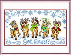 Got Snow cross stitch pattern designed by Ursula Michael.