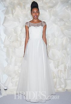 Leanne Marshall - Fall 2014 - Jacqueline Silk Organza A-Line Wedding Dress with Removable Silk and Lace Top | Wedding Dresses Photos | Brides.com