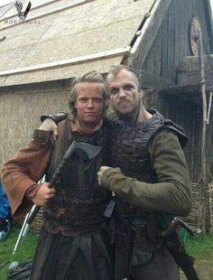 ~Valter & Gurra on the set of Vikings~