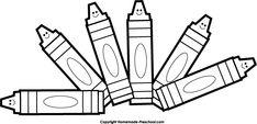 crayonnnnnns Clip art Clipart black and white School clipart