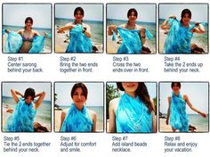 How to wear a sarong as a cute halter dress