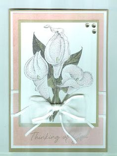 The calla lily image is from Impression Obsession. Card by Cindy
