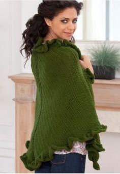 Sweet knit shawl pattern