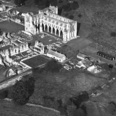 ENGLAND Rievaulx Abbey, Rievaulx, This image has been produced from a print. North Yorkshire, Britain, England, Image, Painting, Collection, Art, Art Background, Painting Art