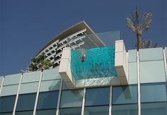 Amazing overhanging outdoor pool Intercontinental Festival City, Dubai.