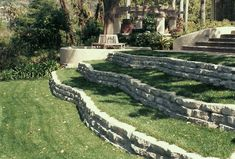 Recycled Concrete Terrace Walls