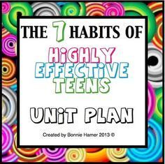 The 7 Habits of Highly Effective Teens Unit Plan.