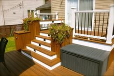 Getting The Most Out Of A Deck With Patio Designs – Pool Landscape Ideas Patio Stairs, Patio Gazebo, Patio Deck Designs, Patio Design, Terrasse Design, Backyard Plan, Backyard Patio, Patio Plus, Ensemble Patio