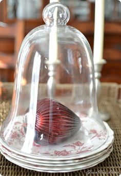 Decorating with cloches for Christmas