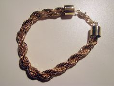 Vintage Gold Tone Rope Necklace and Bracelet by AntiqueAlchemists, $40.00