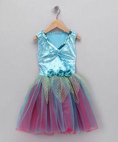 Look at this #zulilyfind! Turquoise & Fuchsia Sequin Dress - Toddler & Girls #zulilyfinds